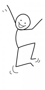 Image of stickman smiling